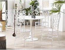 Beliani - Set di 2 sedie da pranzo trasparenti