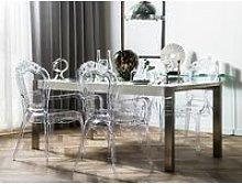 Beliani - Set di 2 sedie trasparenti VERMONT II