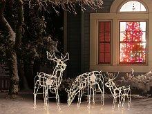 Beliani - Set di 3 decorazioni LED animali