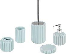 Beliani - Set di 5 accessori da bagno blu GORBEA