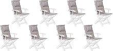 Beliani - Set di 8 cuscini per sedia da esterno