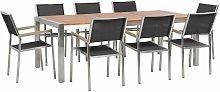 Beliani - Set di tavolo 220cm in legno di