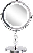 Beliani - Specchio da tavolo luminoso ø 20 cm