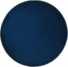 Beliani - Tappeto Artigianale Tondo ø 140 cm Blu