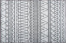 Beliani - Tappeto nero/grigio 140 x 200 cm KEBAN
