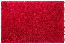 Beliani - Tappeto pelo lungo 200 x 300 cm Rosso