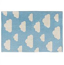 Beliani - Tappeto per bambini 60 x 90 cm Azzurro