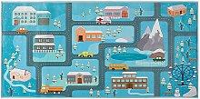 Beliani - Tappeto per bambini motivo stradale 80 x