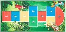 Beliani - Tappeto per bambini verde con animali