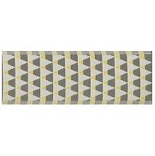 Beliani - Tappeto per esterni grigio/giallo con