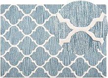 Beliani - Tappeto rettangolare azzurro - Tappeto