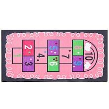 Beliani - Tappeto rosa per bambini con gioco di