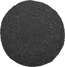 Beliani - Tappeto rotondo grigio scuro ø 140 cm