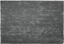 Beliani - Tappeto shaggy grigio scuro 140 x 200 cm