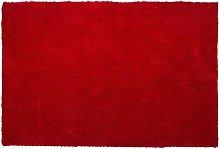 Beliani - Tappeto shaggy rosso 160x230 cm DEMRE