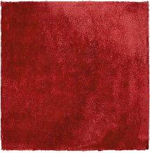 Beliani - Tappeto shaggy rosso scuro 200 x 200 cm