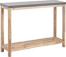 Beliani - Tavolino consolle ad effetto cemento