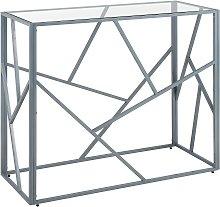 Beliani - Tavolino consolle in vetro e metallo