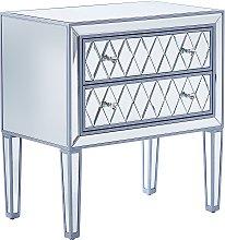 Beliani - Tavolino consolle specchiato CLION