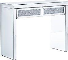 Beliani - Tavolino consolle specchiato con 2