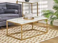 Beliani - Tavolino da caffè con piano ad effetto