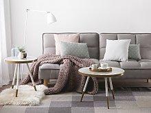 Beliani - Tavolino in color marmo bianco con gambe