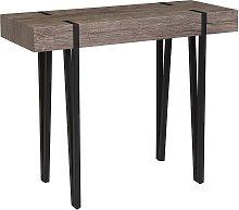 Beliani - Tavolo consolle in legno scuro ADENA