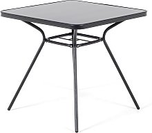 Beliani - Tavolo da giardino in acciaio nero -