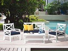 Beliani - Tavolo da giardino in legno bianco