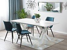 Beliani - Tavolo da pranzo in color bianco 180 cm