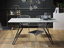 Beliani - Tavolo da Pranzo in Vetro 160 x 90 cm