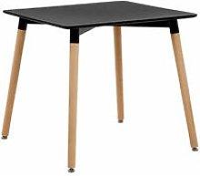Beliani - Tavolo da pranzo quadrato nero 80x80cm