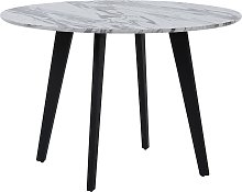Beliani - Tavolo da pranzo rotondo effetto marmo