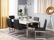 Beliani - Tavolo da pranzo struttura in acciaio