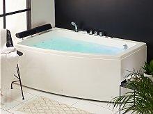 Beliani - Vasca da bagno con idromassaggio destra