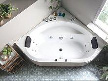 Beliani - Vasca da bagno idromassaggio angolare