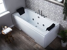 Beliani - Vasca da bagno idromassaggio con LED