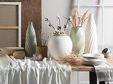 Beliani - Vaso decorativo Bianco FLORENTIA
