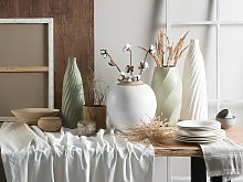Beliani - Vaso decorativo bianco LAURI