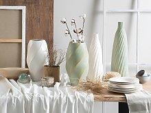 Beliani - Vaso decorativo color bianco LENTIA