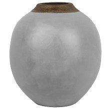 Beliani - Vaso decorativo grigio LAURI