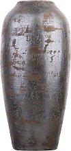 Beliani - Vaso decorativo grigio scuro LORCA