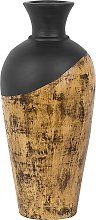 Beliani - Vaso decorativo nero e marrone BONA