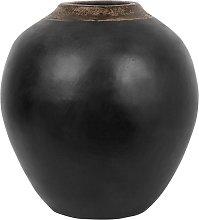 Beliani - Vaso decorativo nero LAURI