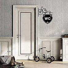 Bella WC Doorplate Wc Wall Sticker