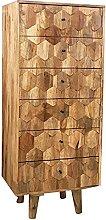 Bellissima cassettiera alta in legno con 6