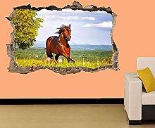 Bellissimo cavallo che corre sul campo Adesivo da