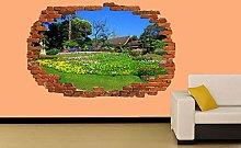 Bellissimo Giardino Primavera Adesivo Murale