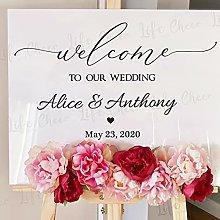 Benvenuto matrimonio segno vinile adesivo