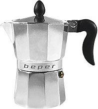BEPER CA.010 Caffettiera 1 Tazza, Alluminio,